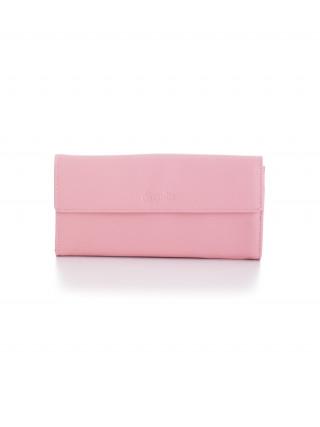 ESQUIRE Roze veliki kožni novčanik na preklop
