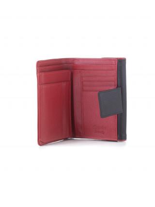 ESQUIRE Crnocrveni kožni novčanik sa RFID zaštitom