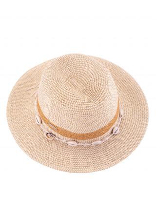 SEEBERGER Bež šešir sa školjkicama