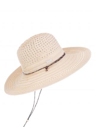 SEEBERGER Bež šešir sa učkurom