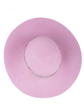 SEEBERGER Elegantan roze damski šešir sa sjajnom trakom