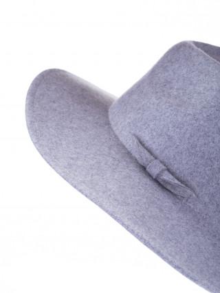SEEBERGER Sivi damski šešir sa mašnicom