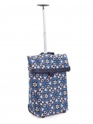 REISENTHEL Plava kolica za kupovinu sa cvetnim motivima
