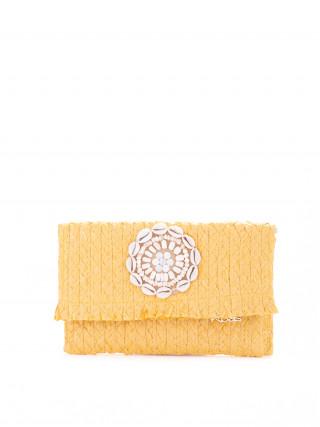 KBAS Žuta pletena pismo tašnica