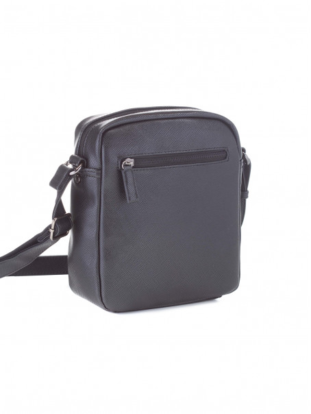 DAVID JONES Crna muška crossbody tašnica