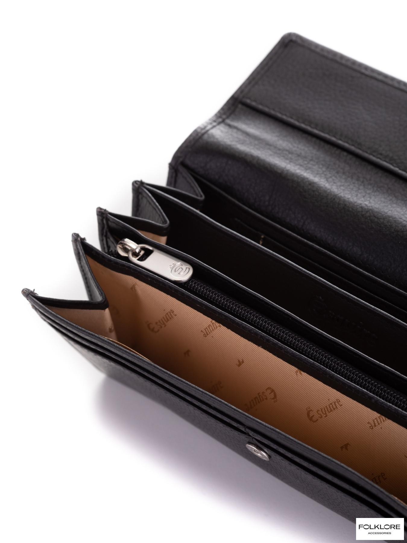 ESQUIRE Crni kožni novčanik