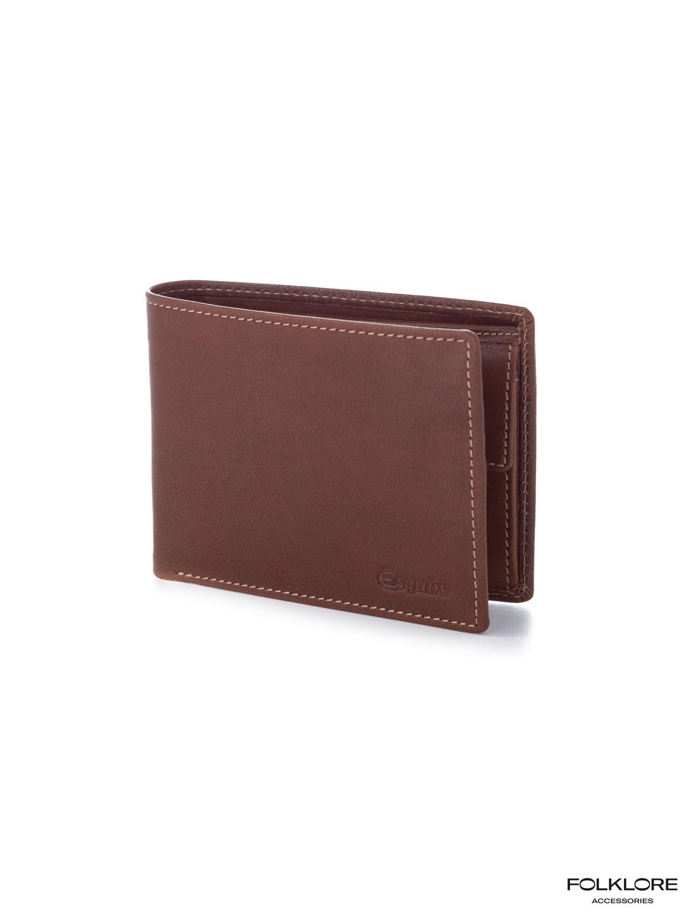 ESQUIRE Kožni braon novčanik sa RFID zaštitom