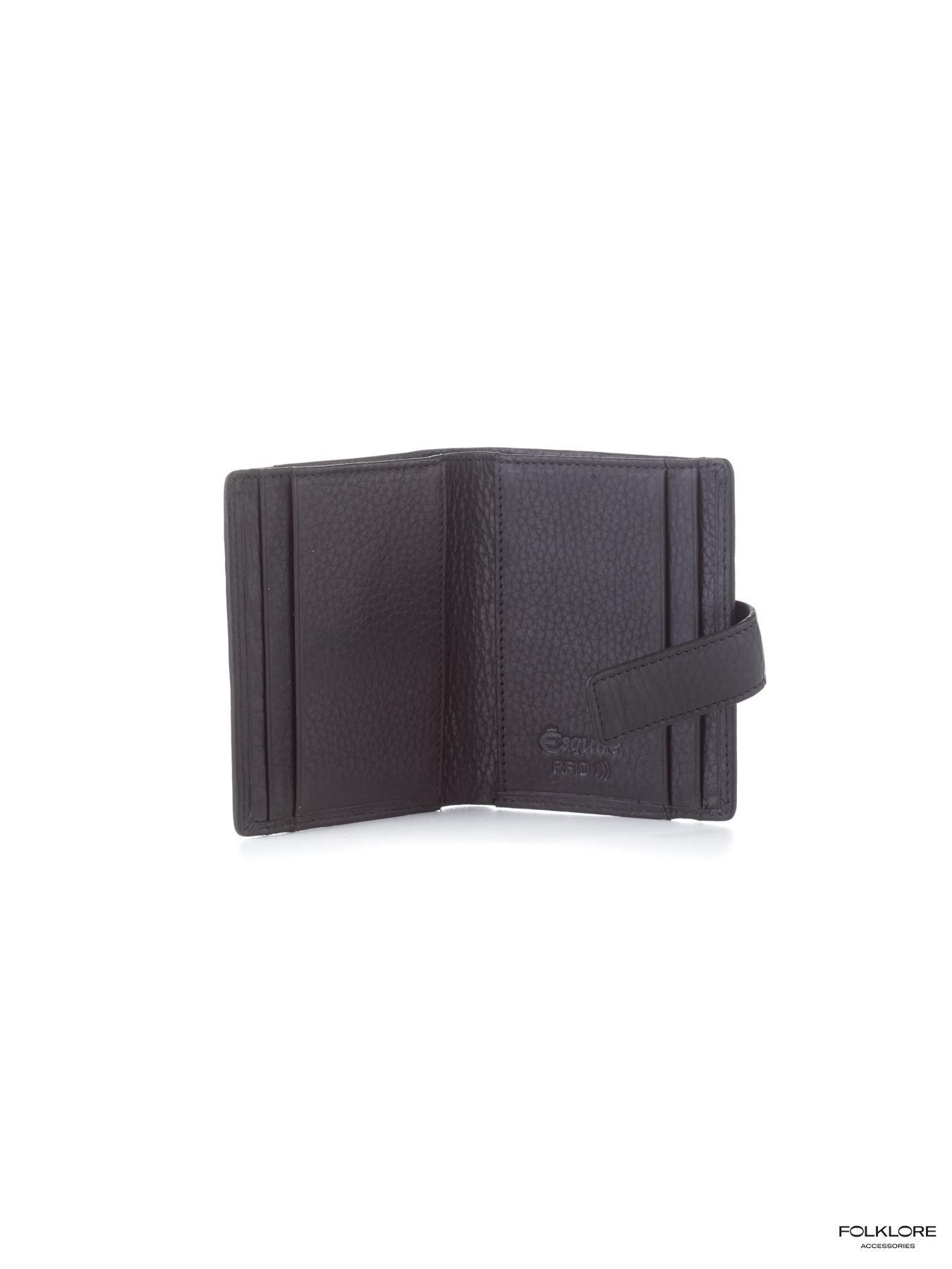 ESQUIRE Crni kožni novčanik sa RFID zaštitom