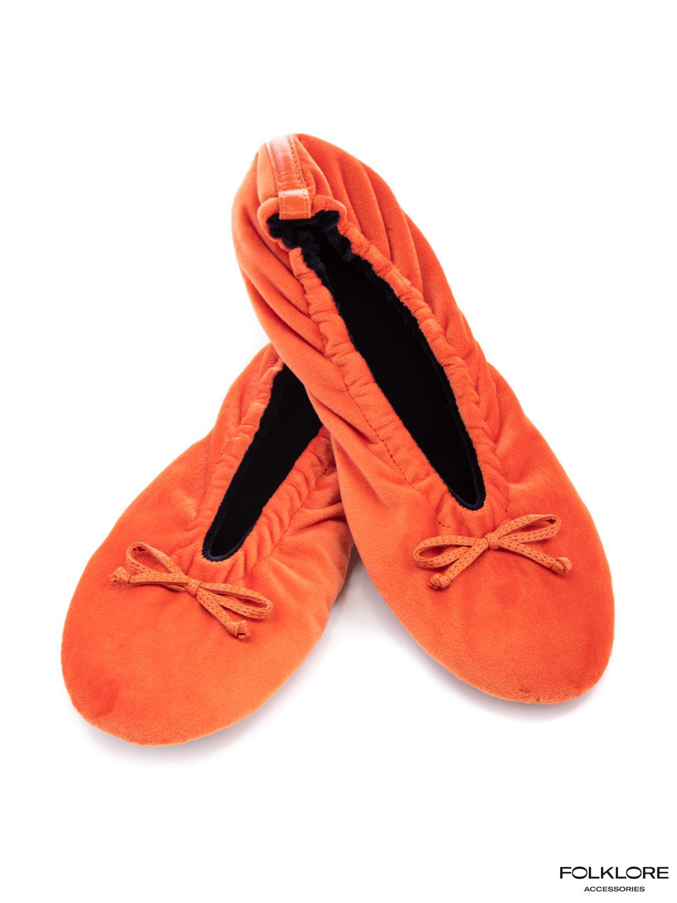 GLOVE STORY Narandžaste plišane baletanke za kuću L