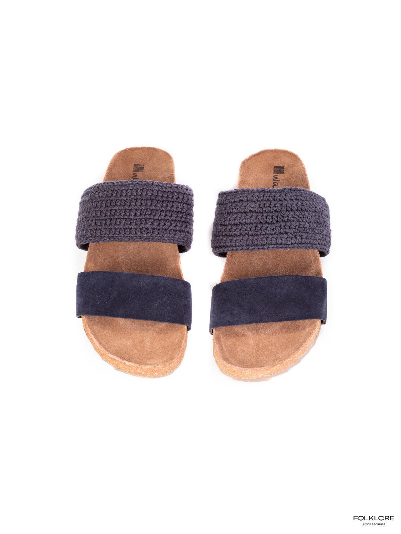 BIBA Boston Lawrence Kožne plave papuče 41