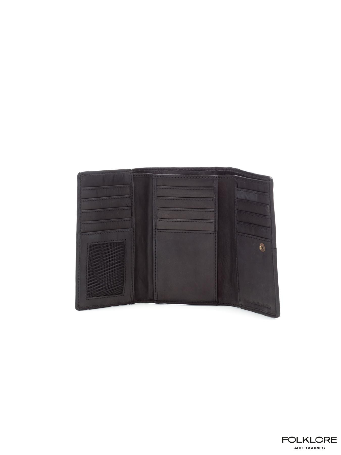BIBA Kansas Kožni crni novčanik