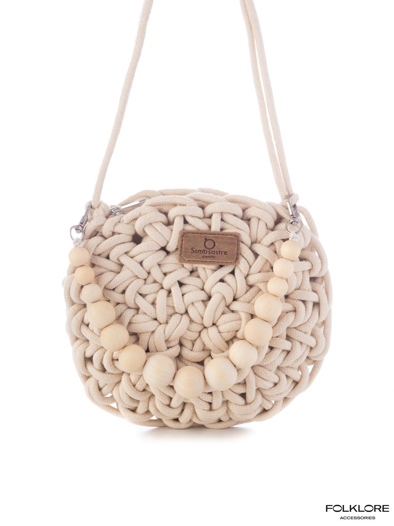 SIMOSASTRE Tašnica sa drvenim kuglicama - 100% Vegan