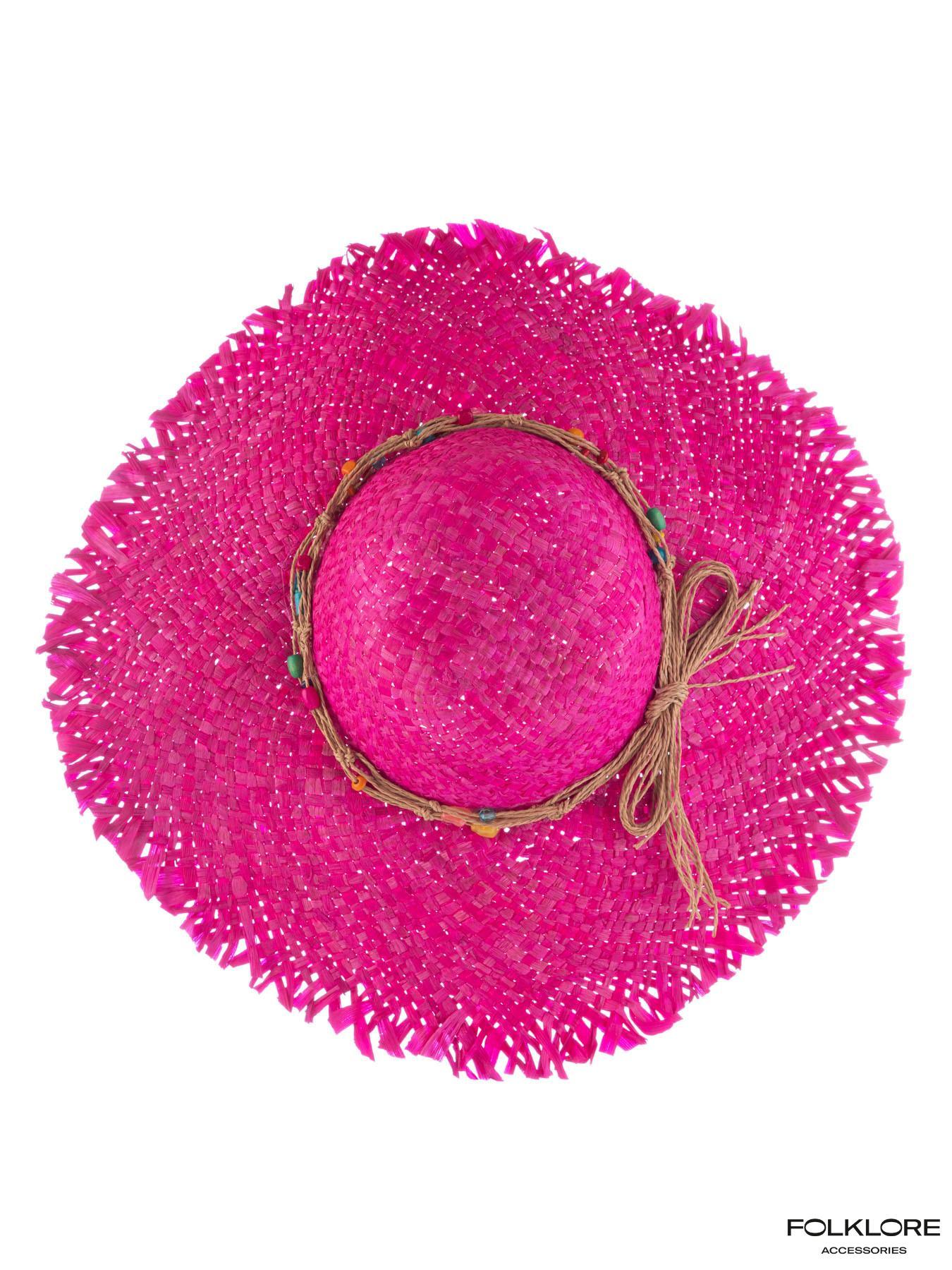 KBAS Pink šešir sa perlicama